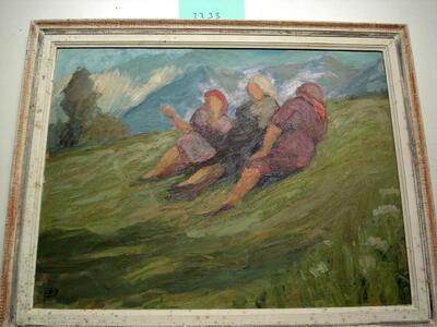 Bild: Ölmalerei   Personen - Picnic im Jura