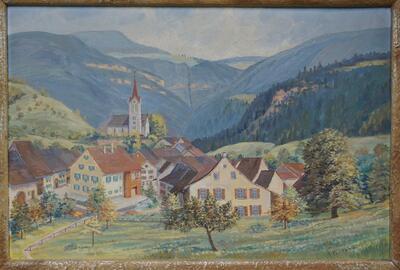 Ölbild Reigoldswil, Unterbiel, um 1930