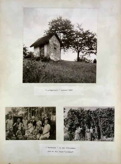 Räbhüsli, Familie Albert Schweighauser in den Rüti-Reben