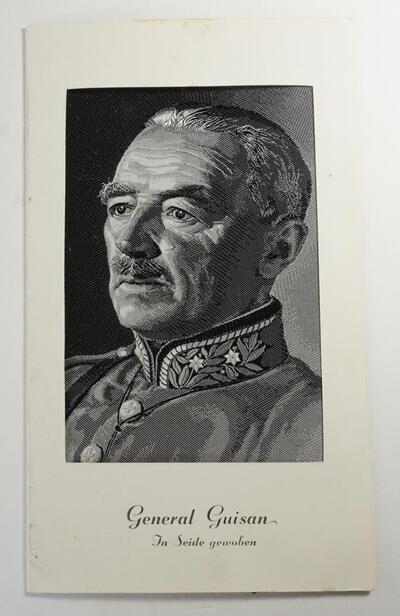 Seidenbild General Guisan