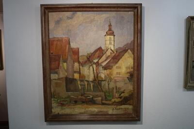 (Gemälde) Laufen Katharinenkirche