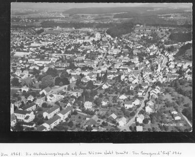 Flugaufnahme von Westen um 1961