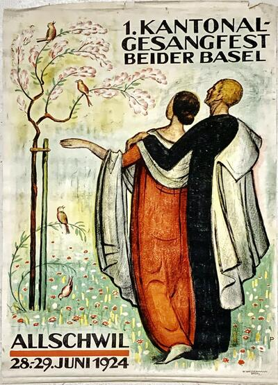 Plakat - 1. Kantonales Gesangfest beider Basel
