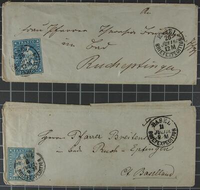 Briefumschläge Juli 1858