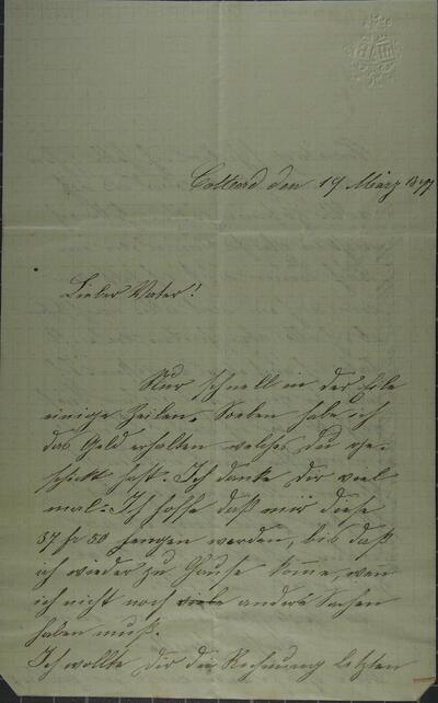 Brief 19.03.1877 - von Martha