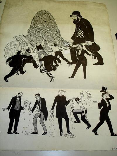 Illustration - Originalzeichnung für Fasnachtszeitung