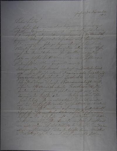 Brief 06.11.1853 - von Heinrich