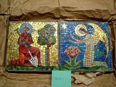 Mythologie - Mosaike mit religiösen Motiven