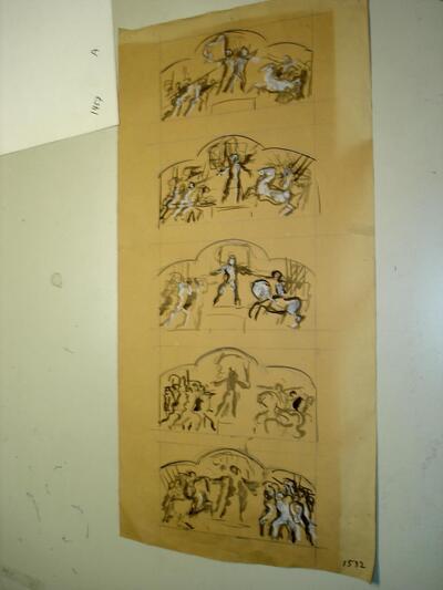 Wandmalerei - Schlachtszenen