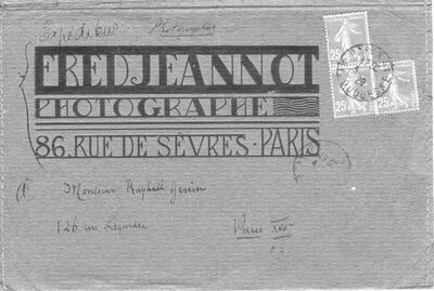 Briefumschlag zu Fotos PHH 182a-e