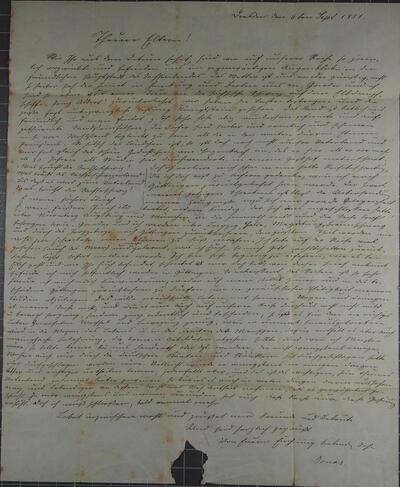 Brief 06.09.1851 - an Eltern