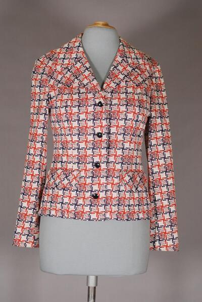Gemusterte Jacke für Damen