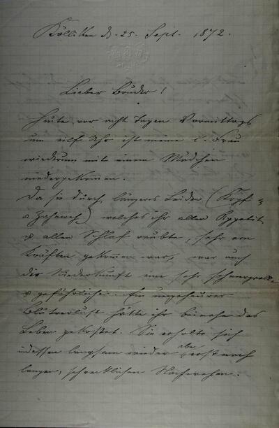 Brief 25.09.1872 - von Heinrich