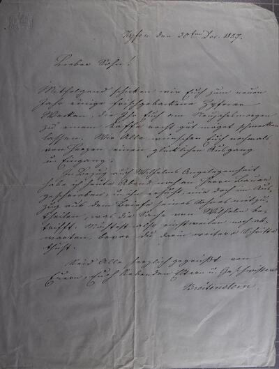 Brief 30.12.1857