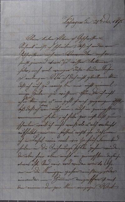Brief 03.12.1876 - an Eltern + Geschwister