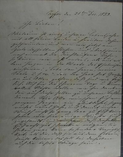 Brief 31.12.1858