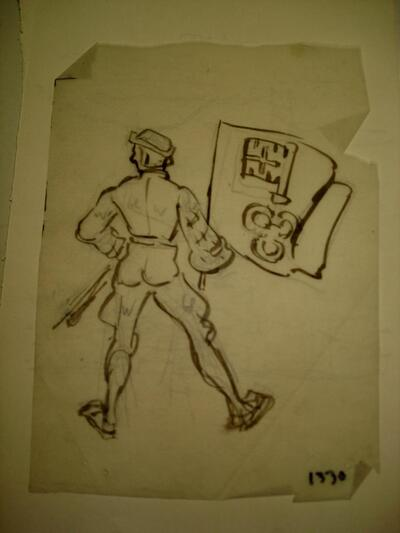 Militär - Unterwaldner Bannerträger