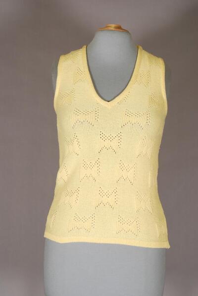 Gelber Pullunder, für Damen