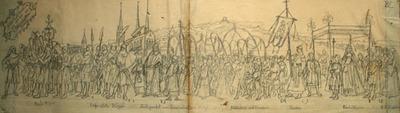 Entwürfe, Druckvorlagen, Sechseläuten 1891: Erster Bund Zürichs mit den Waldstätten