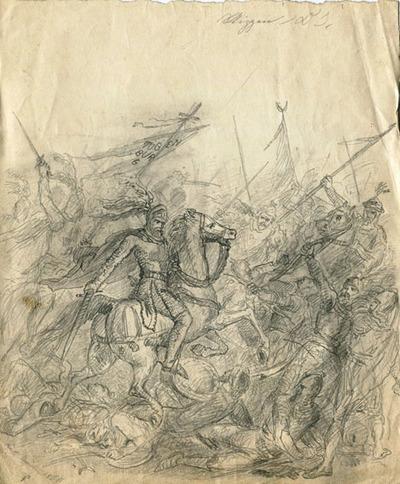 Skizzen, Studien, Schlacht