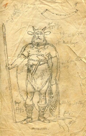 Kostümskizze/Entwurf, Pfahlbauer
