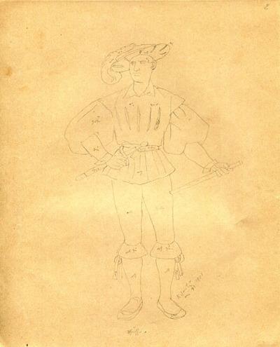 Kostümskizze/Entwurf, Pfeiffer
