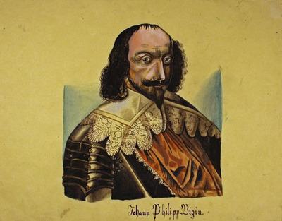 Zeichnung, Portrait Johann Philipp Vigin