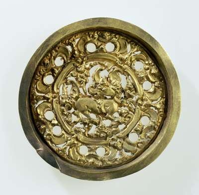 Decorative Plate from an Ear Disc
