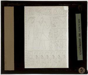 Egyptische voorstelling voor papyrus of reliëf