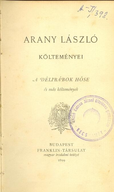 Arany László költeményei