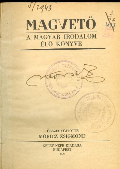 Magvető: A magyar irodalom élő könyve