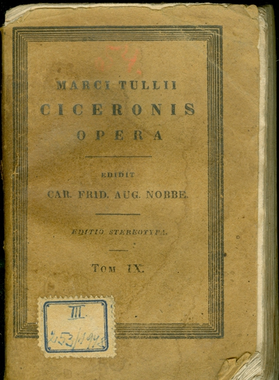 Marci Tullii Ciceronis opera