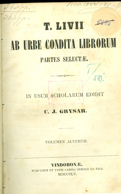 Ab Urbe condita librorum partes selectae