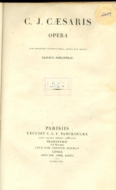 C. J. Caesaris opera