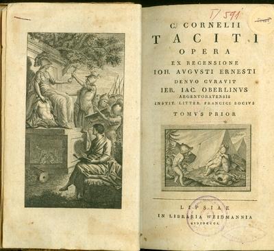 C. Cornelii Taciti opera I.