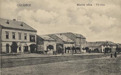 Gálszécz, Hlavna ulica / Fő utca