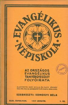 Evangélikus Népiskola 1937