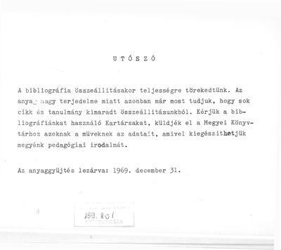 Szabolcs-Szatmár megye pedagógiai irodalma 1945-1970.