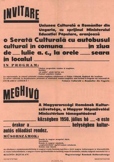 A Magyarországi Románok Kulturszövetsége kultur- autós előadást rendez