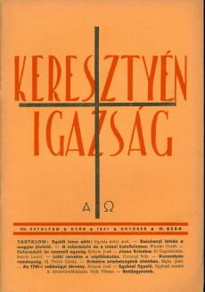 Keresztyén Igazság 1941 (október)
