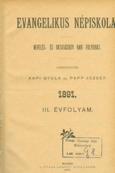 Evangélikus Népiskola 1891