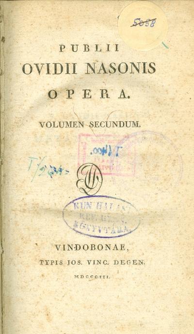 Publii Ovidii Nasonis Opera