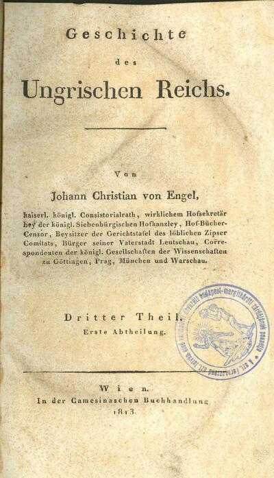 Geschichte des Ungrischen Reichs