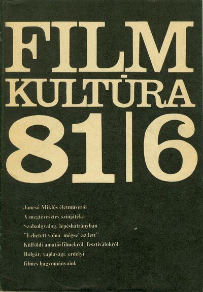 Filmkultúra 1981/6. szám