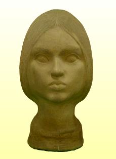 Kisplasztika: Női portré