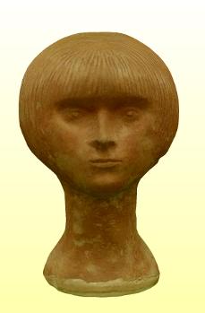 Kisplasztika: Női portré VI.