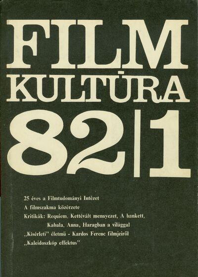 Filmkultúra 1982/1. szám