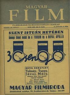 Magyar Film 1941 III. évfolyam 29. szám