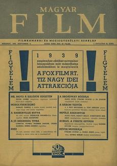 Magyar Film 1939 I. évfolyam 30. szám