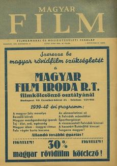 Magyar Film 1939 I. évfolyam 27. szám